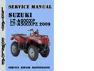 Thumbnail Suzuki LT-A500XP LT-A500XPZ 2009 Service Repair Manual Pdf