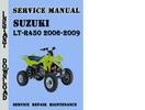 Thumbnail Suzuki LT-R450 2006-2009 Service Repair Manual Pdf Download