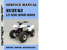Thumbnail Suzuki LT-Z90 2008-2009 Service Repair Manual Pdf Download