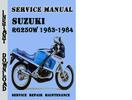 Thumbnail Suzuki RG250W 1983-1984 Service Repair Manual Pdf Download