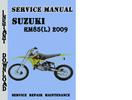 Thumbnail Suzuki RM85(L) 2009 Service Repair Manual Pdf Download