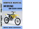 Thumbnail Suzuki RM-Z250 2009 Service Repair Manual Pdf Download