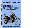 Thumbnail Suzuki VS700 VS750 VS800 1985-2009 Service Repair Manual