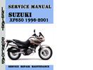 Thumbnail Suzuki XF650 1996-2001 Service Repair Manual Pdf Download
