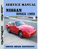 Thumbnail Nissan 300ZX 1989 Service Repair Manual Pdf Download