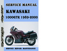 Thumbnail Kawasaki 1000GTR Concours 1989-2000 Service Repair Manual