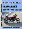 Thumbnail Kawasaki ZL900-1000 1985-1987 Service Repair Manual