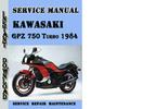 Thumbnail Kawasaki GPZ 750 Turbo 1984 Service Repair Manual