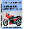 Thumbnail Kawasaki GPZ(400-550) Z(400-500-550)1983-1985 Service Manual