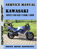 Thumbnail Kawasaki GPZ1100 KZ1100R 1988 Service Repair Manual