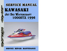 Thumbnail Kawasaki Jet Ski Watercraft 1000STX 1996 Service Manual