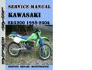 Thumbnail Kawasaki KDX200 1998-2004 Service Repair Manual Pdf Download