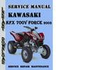 Thumbnail Kawasaki KFX 700V FORCE 2003 Service Repair Manual