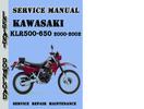 Thumbnail Kawasaki KLR500-650 2000-2002 Service Repair Manual
