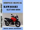Thumbnail Suzuki KLV1000 2004 Service Repair Manual Pdf Download