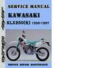 Thumbnail Kawasaki KLX250(R) 1993-1997 Service Repair Manual