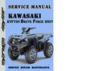 Thumbnail Kawasaki KVF750 Brute Force 2007 Service Repair Manual