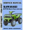 Thumbnail Kawasaki KVF750 Brute Force 2008-2009 Service Repair Manual
