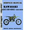 Thumbnail Kawasaki KX(125-250) 1999-2002 Service Repair Manual
