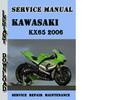 Thumbnail Kawasaki KX65 2006 Service Repair Manual Pdf Download