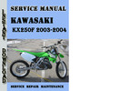 Thumbnail Kawasaki KX250F 2003-2004 Service Repair Manual