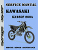 Thumbnail Kawasaki KX250F 2004 Service Repair Manual Pdf Download