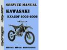 Thumbnail Kawasaki KX450F 2005-2006 Service Repair Manual