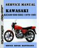 Thumbnail Kawasaki KZ(400-500-550) 1979-1981 Service Repair Manual