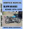 Thumbnail Kawasaki KZ400 1974-1978 Service Repair Manual Pdf Download