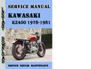 Thumbnail Kawasaki KZ400 1978-1981 Service Repair Manual Pdf Download