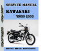Thumbnail Kawasaki W650 2005 Service Repair Manual Pdf Download