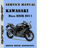 Thumbnail Kawasaki Ninja 250R 2011 Service Repair Manual Pdf Download