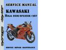 Thumbnail Kawasaki Ninja 250R GPX250R 1987 Service Repair Manual