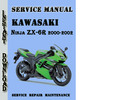 Thumbnail Kawasaki Ninja ZX-6R 2000-2002 Service Repair Manual