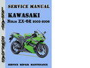 Thumbnail Kawasaki Ninja ZX-6R 2005-2006 Service Repair Manual