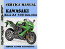 Thumbnail Kawasaki Ninja ZX-6RR 2004-2005 Service Repair Manual