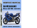Thumbnail Kawasaki Ninja ZX-9R 1998-2001 Service Repair Manual