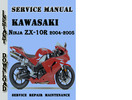 Thumbnail Kawasaki Ninja ZX-10R 2004-2005 Service Repair Manual