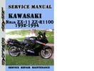 Thumbnail Kawasaki Ninja ZX-11 ZZ-R1100 1992-1994 Service Manual