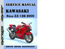 Thumbnail Kawasaki Ninja ZX-12R 2000 Service Repair Manual