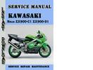 Thumbnail Kawasaki Ninja ZX900-C1 ZX900-D1 Service Repair Manual