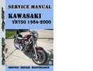 Thumbnail Kawasaki VN750 1984-2000 Service Repair Manual