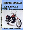 Thumbnail Kawasaki VN800 Vulcan 1996-2004 Service Repair Manual