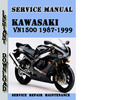 Thumbnail Kawasaki VN1500 1987-1999 Service Repair Manual