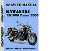 Thumbnail Kawasaki VN1600 Classic 2003 Service Repair Manual