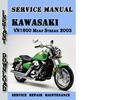 Thumbnail Kawasaki VN1600 Mean Streak 2003 Service Repair Manual