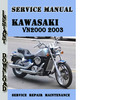 Thumbnail Kawasaki VN2000 2003 Service Repair Manual Pdf Download