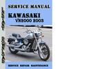 Thumbnail Kawasaki VN2000 2003 Service Repair Manual Pdf Download