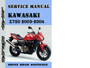 Thumbnail Kawasaki Z750 2003-2004 Service Repair Manual
