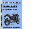 Thumbnail Kawasaki Z750 2007 ABS Service Repair Manual Pdf Download
